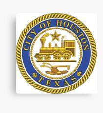 Seal of Houston, Texas Canvas Print