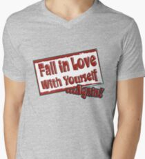 Fall in love with yourself... Mens V-Neck T-Shirt