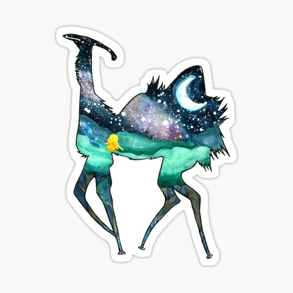 Moon Scape Temple Sticker By Veschist Redbubble