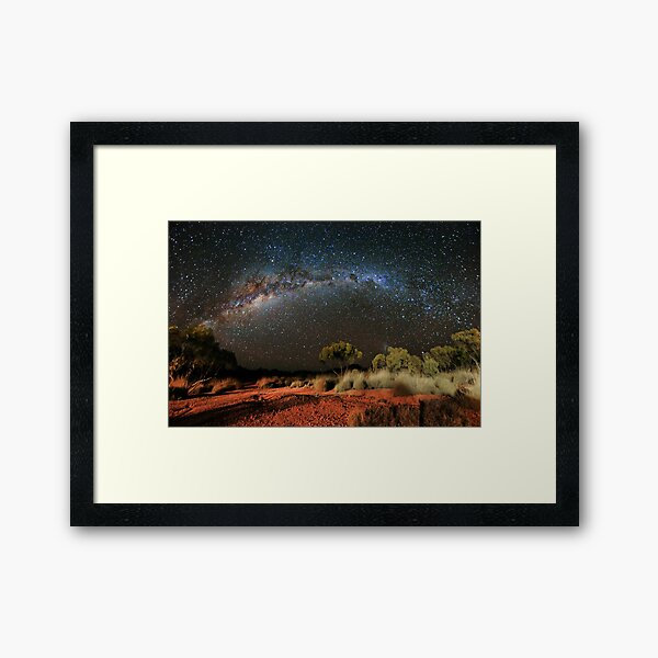 Spinifex and Stars Framed Art Print