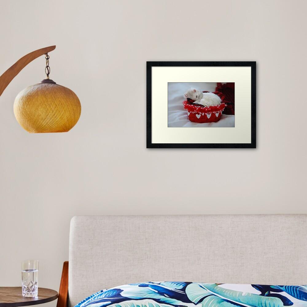 My Basket of Love Framed Art Print