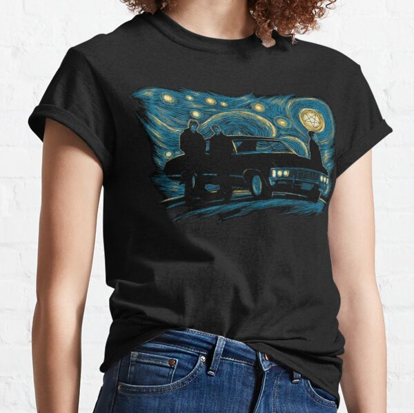 Starry Supernatural Night Classic T-Shirt