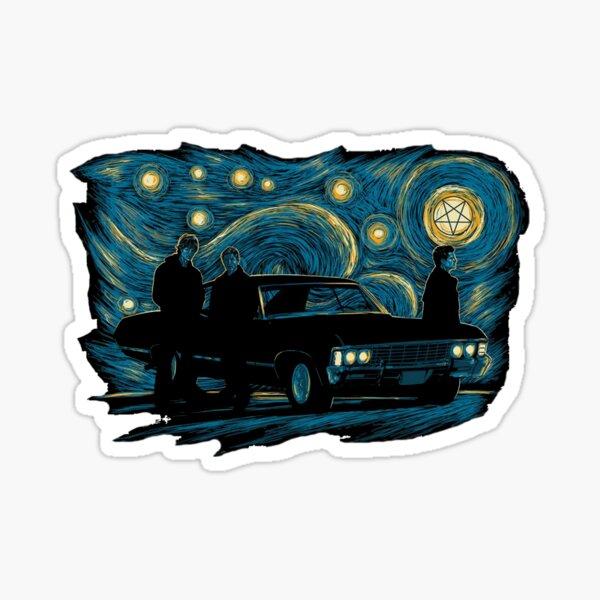 Starry Supernatural Night Sticker