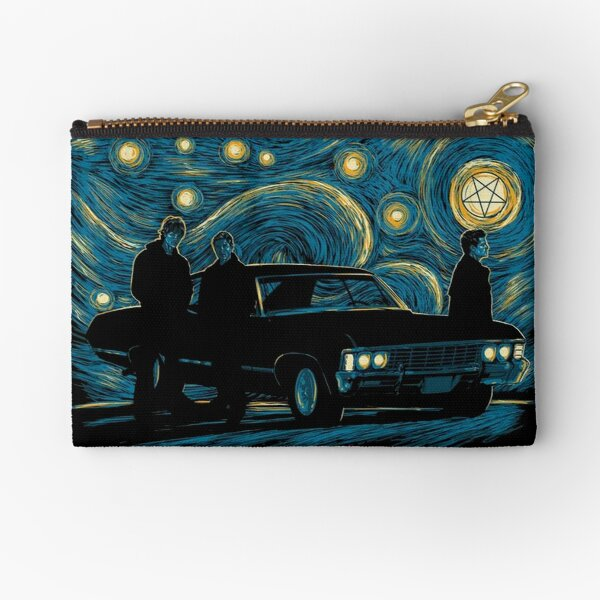 Starry Supernatural Night Zipper Pouch