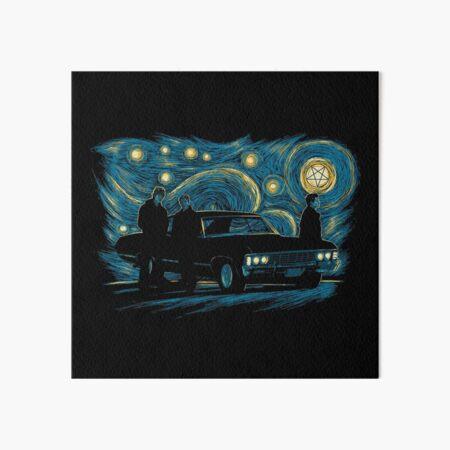 Starry Supernatural Night Art Board Print