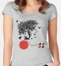 Bjork all is full of love Women's Fitted Scoop T-Shirt