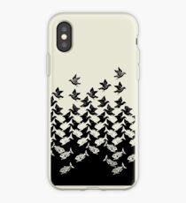 Fisch und Vögel Art Deco Tessellation iPhone-Hülle & Cover