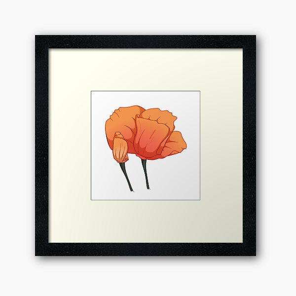 Blooming California Poppies Framed Art Print