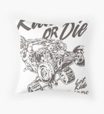 Ride or Die ATV Quad Throw Pillow