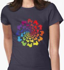 Kreis Regenbogen Skate Tailliertes T-Shirt