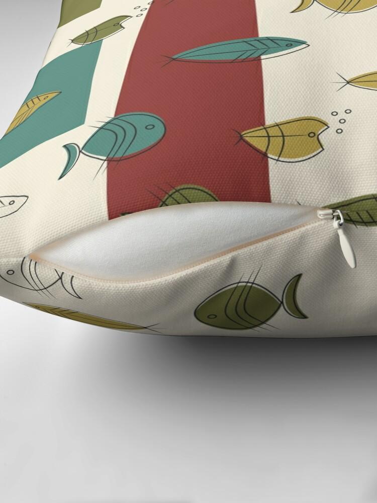 Alternate view of Midcentury Modern Fish Floor Pillow