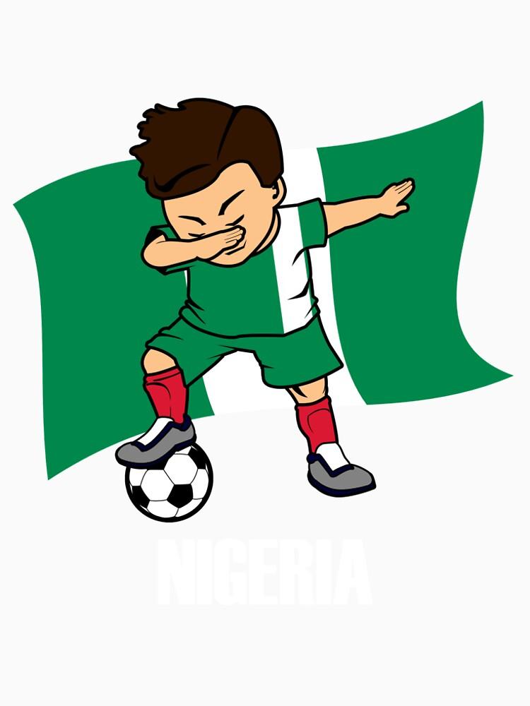 aa3a6bc99 Dabbing Soccer Boy Nigeria Soccer Jersey Nigerian Flag by CreativeStrike