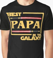 Best Papa In Galaxy Shirt   Fathers Day Gift   Dark Side   Vader Graphic T-Shirt