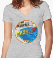 Magaluf, Magaluf poster, tshirt, Spain, beach, photo Women's Fitted V-Neck T-Shirt