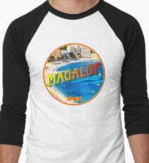 Magaluf, Magaluf poster, tshirt, Spain, beach, photo Men's Baseball ¾ T-Shirt