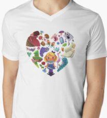 Alice in Wonderland Heart Men's V-Neck T-Shirt