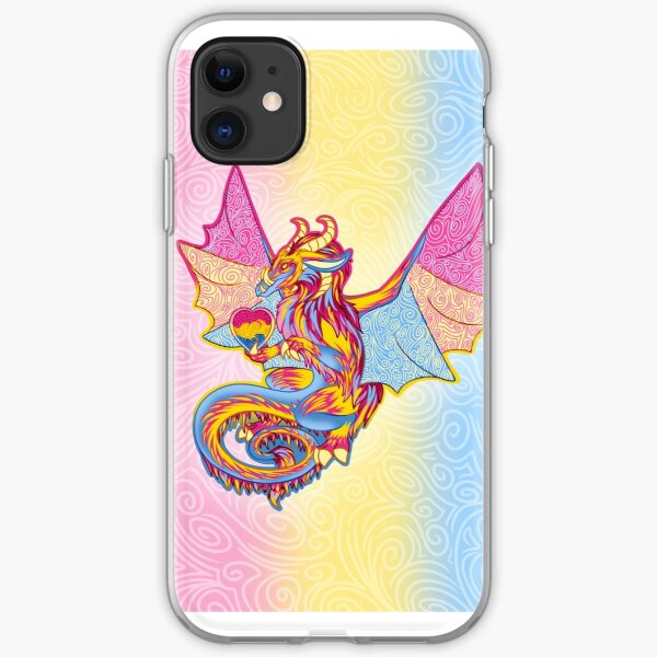 Pansexual Pride Dragon iPhone Soft Case