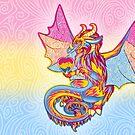 Pansexual Pride Dragon by Markaleb