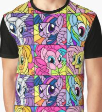 Friends in a Stained Glass Window Graphic T-Shirt