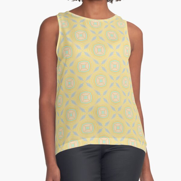 Fresh and floral Sleeveless Top