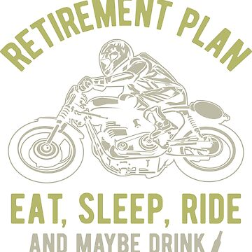 Retirement Plan Vintage Motocycle by offroadstyles