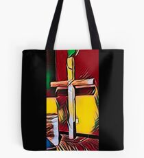 The Cross (Red) Tote Bag