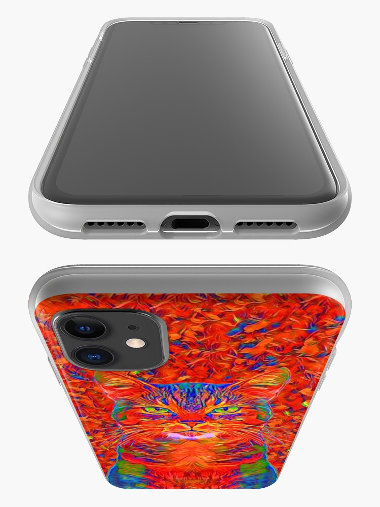 Alternate view of Red Cat iPhone Case & Cover