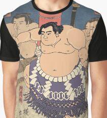 Sumo Wrestler Japanese Sumo Wrestling Match Sumo Art Japan Sport Graphic T-Shirt