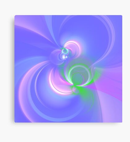 Abstract fractal colors Canvas Print
