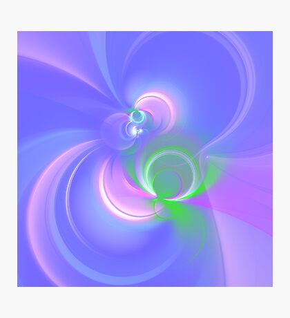 Abstract fractal colors Photographic Print