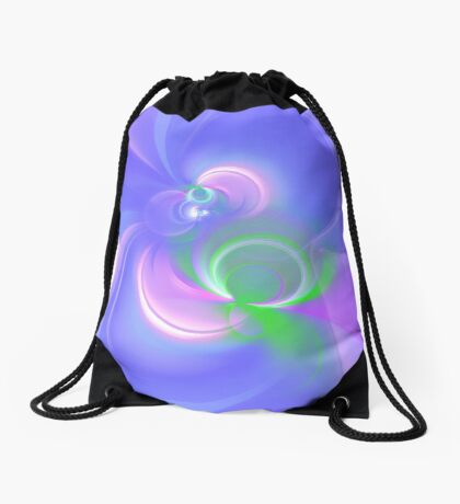 Abstract fractal colors Drawstring Bag