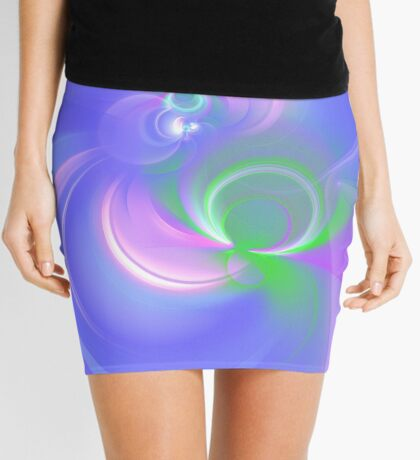 Abstract fractal colors Mini Skirt