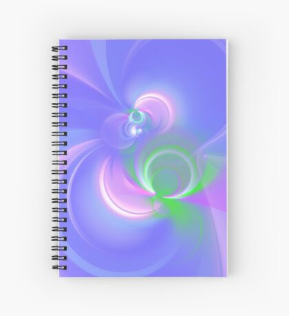 Abstract fractal colors Spiral Notebook