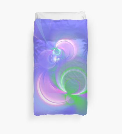 Abstract fractal colors Duvet Cover