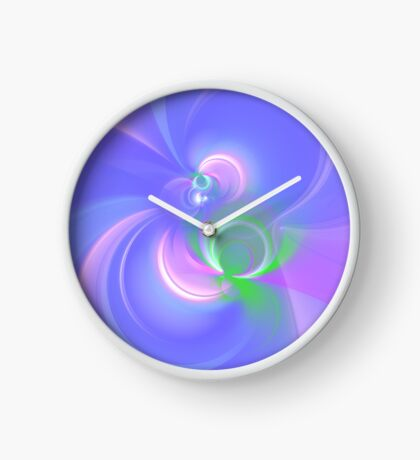 Abstract fractal colors Clock