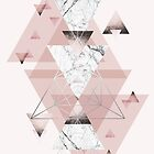 Geometric Compilation in Blush Pink and silver by UrbanEpiphany
