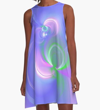 Abstract fractal colors A-Line Dress