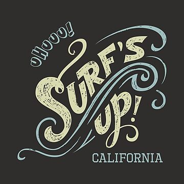 Surf's Up hand-lettering by PaulLesser