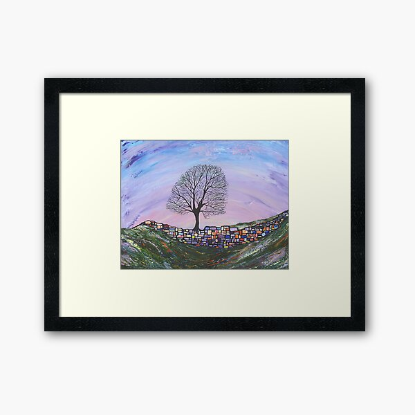 Sycamore Gap- Hadrians Wall Framed Art Print