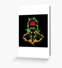 Zebes Conflict Greeting Card