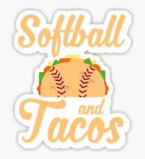 Softball And Tacos Funny Novelty Sticker