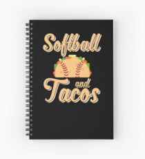 Softball And Tacos Funny Novelty Spiral Notebook