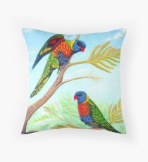 Rainbow Days Throw Pillow