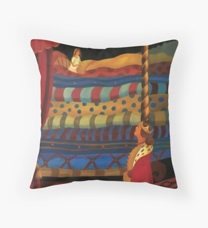 THE PRINCESS AND THE PEA Throw Pillow