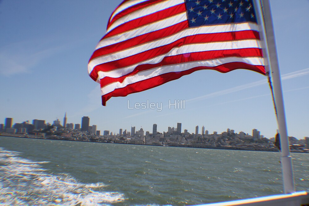 Flag in San Francisco.... by Lesley  Hill