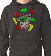 Tetris and Game Boy grey Pullover Hoodie