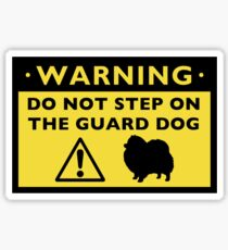 Humorous Pomeranian Guard Dog Warning Sticker