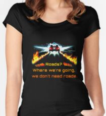 Back to the future Women's Fitted Scoop T-Shirt