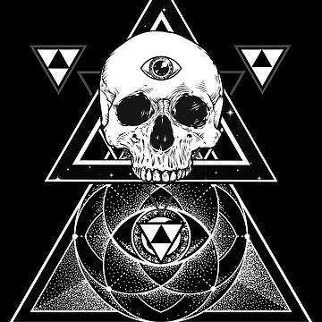 Trinity Third Eye Skull by sakharoth