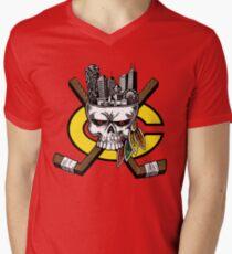 Go Chicago Skyline Men's V-Neck T-Shirt